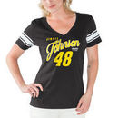 Jimmie Johnson G-III 4Her by Carl Banks Women's First Pick V-Neck T-Shirt – Black