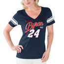 William Byron G-III 4Her by Carl Banks Women's First Pick V-Neck T-Shirt – Navy