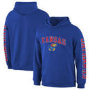 Kansas Jayhawks Fanatics Branded Distressed Arch Over Logo Pullover Hoodie – Royal