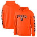Syracuse Orange Fanatics Branded Distressed Arch Over Logo Pullover Hoodie – Orange