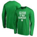 Toronto Maple Leafs Fanatics Branded St. Patrick's Day Irish Game Day Long Sleeve T-Shirt - Kelly Green