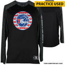 "Furkan Korkmaz Philadelphia 76ers Fanatics Authentic #30 Gray ""Hoops for Troops"" Long Sleeve Warm-Up Shirt Used During pre-game"