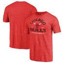 Chicago Bulls Fanatics Branded Vintage Arch Tri-Blend T-Shirt - Red