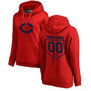 Minnesota Twins Fanatics Branded Women's Personalized RBI Pullover Hoodie - Red