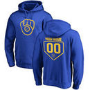 Milwaukee Brewers Fanatics Branded Personalized RBI Pullover Hoodie - Royal