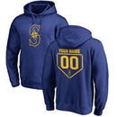 Seattle Mariners Fanatics Branded Personalized RBI Pullover Hoodie - Royal