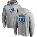 Toronto Blue Jays Fanatics Branded Personalized RBI Pullover Hoodie - Heathered Gray