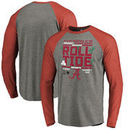 Alabama Crimson Tide Fanatics Branded College Football Playoff 2018 Sugar Bowl Bound Drive Long Sleeve Raglan Tri-Blend T-Shirt