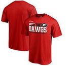 Georgia Bulldogs Fanatics Branded 2017 College Football Playoff Bound Center T-Shirt – Red