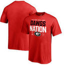 Georgia Bulldogs Fanatics Branded Youth College Football Playoff 2018 Rose Bowl Bound Delay T-Shirt – Red