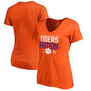 Clemson Tigers Fanatics Branded Women's College Football Playoff 2018 Sugar Bowl Bound Delay Slim Fit V-Neck T-Shirt – Orange