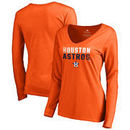 Houston Astros Fanatics Branded Women's Fade Out Long Sleeve T-Shirt – Orange