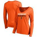 San Francisco Giants Fanatics Branded Women's Fade Out Long Sleeve T-Shirt – Orange