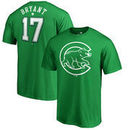 Kris Bryant Chicago Cubs Fanatics Branded St. Patrick's Day Backer T-Shirt - Kelly Green
