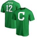 Francisco Lindor Cleveland Indians Fanatics Branded St. Patrick's Day Backer T-Shirt - Kelly Green