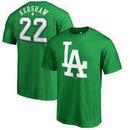 Clayton Kershaw Los Angeles Dodgers Fanatics Branded St. Patrick's Day Backer T-Shirt - Kelly Green