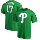 Rhys Hoskins Philadelphia Phillies Fanatics Branded St. Patrick's Day Backer T-Shirt - Kelly Green