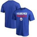 Philadelphia 76ers Fanatics Branded Fade Out Big and Tall T-Shirt - Blue