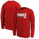 Atlanta Hawks Fanatics Branded Youth Onside Stripe Long Sleeve T-Shirt - Red