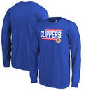 LA Clippers Fanatics Branded Youth Onside Stripe Long Sleeve T-Shirt - Royal