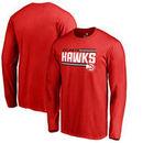 Atlanta Hawks Fanatics Branded Onside Stripe Long Sleeve T-Shirt - Red
