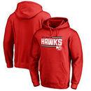 Atlanta Hawks Fanatics Branded Onside Stripe Pullover Hoodie - Red