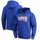 LA Clippers Fanatics Branded Onside Stripe Pullover Hoodie - Royal