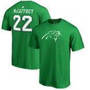 Christian McCaffrey Carolina Panthers NFL Pro Line by Fanatics Branded St. Patrick's Day Icon Name & Number T-Shirt – Kelly Gree