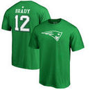 Tom Brady New England Patriots NFL Pro Line by Fanatics Branded St. Patrick's Day Icon Name & Number T-Shirt – Kelly Green
