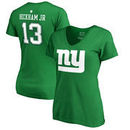 Odell Beckham Jr New York Giants NFL Pro Line by Fanatics Branded Women's St. Patrick's Day Icon Name & Number T-Shirt – Kelly G