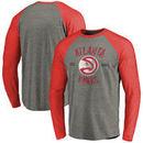 Atlanta Hawks Fanatics Branded Heritage Long Sleeve Raglan T-Shirt – Heathered Gray