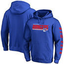 New York Rangers Fanatics Branded Fast Line Pullover Hoodie - Blue