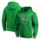 Minnesota Wild Fanatics Branded St. Patrick's Day Emerald Isle Pullover Hoodie - Kelly Green