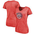 Washington Capitals Fanatics Branded Women's 2018 NHL Stadium Series Vintage Tri-Blend V-Neck T-Shirt – Red