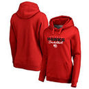 Atlanta Hawks Fanatics Branded Women's Script Assist Pullover Hoodie - Red