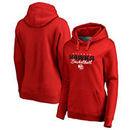 Atlanta Hawks Fanatics Branded Women's Script Assist Plus Size Pullover Hoodie - Red