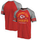 Kansas City Chiefs NFL Pro Line by Fanatics Branded Timeless Collection Vintage Arch Tri-Blend Raglan T-Shirt - Red