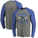 Indianapolis Colts NFL Pro Line by Fanatics Branded Timeless Collection Antique Stack Big & Tall Long Sleeve Raglan T-Shirt - As