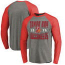 Tampa Bay Buccaneers NFL Pro Line by Fanatics Branded Timeless Collection Antique Stack Big & Tall Long Sleeve Raglan T-Shirt -
