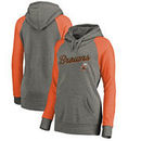 Cleveland Browns NFL Pro Line by Fanatics Branded Women's Timeless Collection Rising Script Tri-Blend Raglan Pullover Hoodie - A