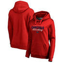Washington Capitals Fanatics Branded Women's Iconic Collection Script Assist Pullover Hoodie - Red