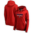 Florida Panthers Fanatics Branded Women's Iconic Collection Script Assist Plus Size Pullover Hoodie - Red