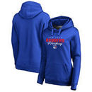 New York Rangers Fanatics Branded Women's Iconic Collection Script Assist Plus Size Pullover Hoodie - Blue
