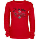 Ohio State Buckeyes Blue 84 Women's 2017 Cotton Bowl Champions Long Sleeve T-Shirt – Red