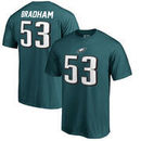 Nigel Bradham Philadelphia Eagles NFL Pro Line by Fanatics Branded Authentic Stack Name & Number T-Shirt – Midnight Green