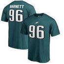 Derek Barnett Philadelphia Eagles NFL Pro Line by Fanatics Branded Authentic Stack Name & Number T-Shirt – Midnight Green
