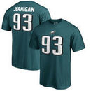 Timmy Jernigan Philadelphia Eagles NFL Pro Line by Fanatics Branded Authentic Stack Name & Number T-Shirt – Midnight Green