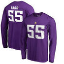 Anthony Barr Minnesota Vikings NFL Pro Line by Fanatics Branded Authentic Stack Name & Number Long Sleeve T-Shirt – Purple