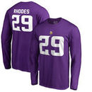 Xavier Rhodes Minnesota Vikings NFL Pro Line by Fanatics Branded Authentic Stack Name & Number Long Sleeve T-Shirt – Purple