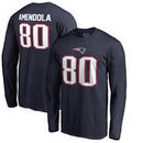 Danny Amendola New England Patriots NFL Pro Line by Fanatics Branded Authentic Stack Name & Number Long Sleeve T-Shirt – Navy